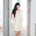 """เดรสคอวี หน้าสั้นหลังยาว ผ้าทอลายริ้วเหลืองอ่อน ซับในทั้งตัว มีกระเป๋าด้านข้าง  Fabric : Cotton Color : เหลือง White & Yellow Stripe Chest : 38"""" Armhole : 15"""" Length Front : 35"""" Length Back : 39""""  Detail :  - 2 side pockets  - Interior lining - Invisible zipper at back side - Casual and comfortable to wear  - Made in THAILAND - Model Height : 160 cm.  #เสื้อผ้าผู้หญิง #เดรส #เดรสสั้น #เดรสแขนสั้น #เดรสสั้นแขนสั้น"""