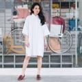 """เดรสคอปกโอเวอร์ไซส์สีขาว Polo Collar Dress Shirt White ผ้า : Premium Cotton สี : ขาว White รอบอก : 46"""" ความยาวแขน : 19.5"""" (วัดจากปก) สะโพก : 48"""" ความยาว : 36""""  รายละเอียด ~ เนื้อผ้า Premium Cotton  ~ เดรสคอปก  ~ สาปกระดุมด้านหน้า  ~ มีกระเป๋า2ข้าง  ~ ทรงOver Size สวมใส่สบาย  ~ นางแบบสูง 160 Cm.  #เดรส #เดรสสั้น #เดรสแขนสั้น #เดรสสั้นแขนสั้น #เดรสเชิ้ต"""