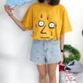 """Oversize Tshirt สกรีนลายเหนื่อย Size อก 44"""" ยาว 26"""" รอบวงแขน 20"""" Color ขาว/เหลือง/เทา/ชมพู/เขียว/กรม/ครีม"""