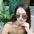 GQSun-032 Price: THB 3,990 UV 400 Sunglasses Lens  แว่นกันแดดสไตล์ aviator ดีไซนน์มีขอบสีและมีเลนส์กันแดด UV400 ที่มีสีที่เข้ากัน ทำจากวัสดุคุณภาพดีที่มีน้ำหนักเบา  Frame Size: 55□18-140○50 Frame Width: L (140 MM) Weight: 16 g   โทนสี : Colorful Tone ตัวเลือกสี : Green, Silver ผิววัสดุ : Matte ทรง : Aviator/Pilot, Drop กรอบแว่น : Full Rim วัสดุ : Titanium  #GLAZZIQ#Eyewear #Sunglasses #แว่นตา #แว่น #แว่นกันแดด