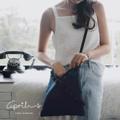 ♡April's Bag♡  กระเป๋าผ้าฝ้ายน่าร๊ากกกต้อนรับลมหนาว ทำจากผ้าฝ้ายเชียงใหม่ สีขาวและสีกรม ใช้ได้ทั้งสะพายไหล่และสะพายข้าง  ขนาด : 25x29cm / สายกระเป๋ายาว 100cm            (ปากกระเป๋ามีเชือกผูกสำหรับกันของตกนะคะ) สี : กรม navy  #กระเป๋า #กระเป๋าสะพาย #กระเป๋าผู้หญิง