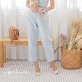 """ชื่อสินค้า : กางเกงคุณสาลี่ (สี ฟ้า เทา) ผ้า : ผ้าไหมเที่ยม  ขนาดกางเกง size S  : เอว 26 / สะโพก 36 / ยาว 34""""     size M : <สินค้าหมด>    size L  : <สินค้าหมด>  #กางเกง #กางเกงผู้หญิง #กางเกงขายาว #กางเกงขายาวผู้หญิง #กางเกงผู้หญฺงขายาว"""