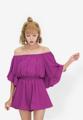 """พลิ้วไหวอย่างน่ารักสดใสไปกับเพลย์สูท Ruffle Off-Shoulder ชุดนี้จาก Mirror Dress ให้สาวๆดูสวยหวานด้วยดีไซน์แต่งเลเยอร์ผ้าระบายช่วงบน พร้อมตัดเย็บจากผ้าชีฟองสีคลาสสิคที่ให้คุณดูสะดุดตาตั้งแต่แรกเห็น  - ผลิตจากผ้าชีฟอง - ใส่แบบเปิดไหล่หรือดึงขึ้นมาเป็นคอปาดได้ - แบบสวม - ทรงใส่สบาย - มีซับใน  รอบอก x รอบเอว x ความยาว One Size (36"""" x 24""""-34"""" x 31"""")"""