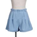 """ตัดเย็บมาจากผ้า Poluester Blend เนื้อดีสวมใส่สบายจากแบรนด์ Mirror Dress กับ กางเกงขาสั้น ที่ตัดเย็บมาในแพทเทิร์นกางเกงเอวสูง แต่งดีเทลไว้ที่จีบช่วงบนเพิ่มความคูลให้แก่ลุคแคชชวลของคุณได้ในทุกครั้งที่หยิบมาสวมใส่   - ตัดเย็บจากผ้า Polyester Blend - ขอบเอวสูง - ปิดซิปด้านหน้า - ทรงปกติ - มีซับใน   รอบเอว x รอบสะโพก x ยาว S (26"""" x 37.8"""" x 12.5"""") M (27.5"""" x 39.3"""" x 13"""") L (29"""" x 41"""" x 13.5"""")"""