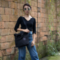 """""""ZINC - Transformize M""""  Category: Crossbody Bag & Handbag Materials: Canvas Size: 4""""W x 13""""L x 15.5""""H Color: Black - Black (สี ดำ - สีดำ)  Compartments: + Outer Pockets: 2 Pockets at the front + Inner Pockets: 1 Normal Pocket, 1 Zip Pocket, 2 Small Pockets  Capacity: + Mobile Phone + Power Bank + Ipad / Tablets + Wallet + Small Umbrella + Books + Cosmetics + Stationary + A4 Paper  HANDMADE IN BKK, THAILAND * Please note that due to lighting effect and computer color, the actual color might be slightly different from the picture.*  #แคนวาส #กระเป๋า #กระเป๋าผ้า #กระเป๋าสะพาย #สีดำ #zinc #zincbag"""