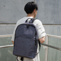 """ZINC - N Backpack""  Category: Backpack Materials: Polyester Size: 5""W x 11.5""L x 16.5""H Color: Dark Grey - Marble (สีเทาเข้ม)  Compartments: + Outer Pockets: 1 Pocket at the front + Inner Pockets: 1 Normal Pocket, 1  Laptop Pocket, 2 Small Pockets, 1 Hidden Pocket  Capacity: + Mobile Phone + Wallet + Small Umbrella + Laptop with maximum size 14"" + Ipad + Books / Notebooks + Cosmetics + Stationary + Clothes  HANDMADE IN BKK, THAILAND * Please note that due to lighting effect and computer color, the actual color might be slightly different from the picture. *  #กระเป๋า #กระเป๋าเป้ #สีเทา #zinc #zincbag"