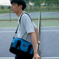 """""""ZINC - Escape""""  Category: Crossbody Bag & Handbag Materials: Canvas Size: 7.5""""W x 12""""L x 10""""H Color: Blue - Black (สี น้ำเงิน - สี ดำ )  Compartments: + Outer Pockets: 1 Pocket at the front, 2 Pockets on both sides + Inner Pockets: 1 Normal Pocket, 1 Zip Pocket, 1 Medium Pocket  Capacity: + Mobile Phone + Power Bank + Ipad / Tablets + Wallet + Small Umbrella + Books + Cosmetics + Stationary  HANDMADE IN BKK, THAILAND * Please note that due to lighting effect and computer color, the actual colors might be slightly different from the picture.*  #แคนวาส #กระเป๋า #กระเป๋าสะพาย #กระเป๋าถือ #กระเป๋าผ้า #สีน้ำเงิน #zinc #zincbag"""
