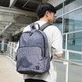 """ZINC - N Backpack""  Category: Backpack Materials: Polyester Size: 5""W x 11.5""L x 16.5""H Color: Dark Grey - Line (สีเทาเข้ม)  Compartments: + Outer Pockets: 1 Pocket at the front + Inner Pockets: 1 Normal Pocket, 1  Laptop Pocket, 2 Small Pockets, 1 Hidden Pocket  Capacity: + Mobile Phone + Wallet + Small Umbrella + Laptop with maximum size 13"" + Ipad + Books / Notebooks + Cosmetics + Stationary + Clothes  HANDMADE IN BKK, THAILAND * Please note that due to lighting effect and computer color, the actual color might be slightly different from the picture. *  #กระเป๋า #กระเป๋าเป้ #สีเทา #zinc #zincbag"