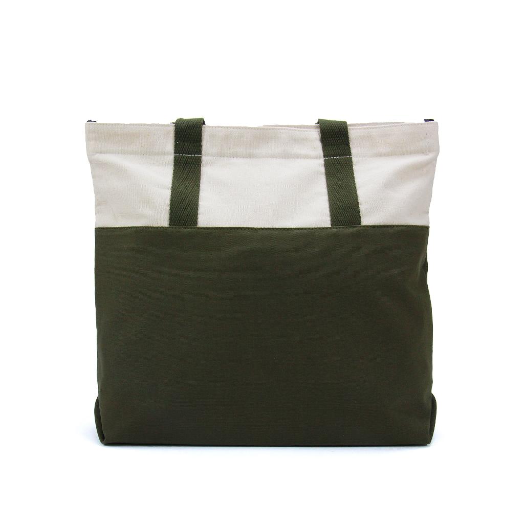 แคนวาส,กระเป๋า,กระเป๋าผ้า,กระเป๋าสะพาย,สีเขียวขี้ม้า,zinc,zincbag