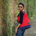 """ZINC - Transformize M""  Category: Crossbody Bag & Handbag Materials: Canvas Size: 4""W x 13""L x 15.5""H Color: Red - Navy (สี แดง - สี กรม )  Compartments: + Outer Pockets: 2 Pockets at the front + Inner Pockets: 1 Normal Pocket, 1 Zip Pocket, 2 Small Pockets  Capacity: + Mobile Phone + Power Bank + Ipad / Tablets + Wallet + Small Umbrella + Books + Cosmetics + Stationary + A4 Paper  HANDMADE IN BKK, THAILAND * Please note that due to lighting effect and computer color, the actual color might be slightly different from the picture.*  #แคนวาส #กระเป๋า #กระเป๋าผ้า #กระเป๋าสะพาย #สีแดง #zinc #zincbag"