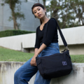 """""""ZINC - Transformize L""""  Category: Crossbody Bag & Shoulder Bag Materials: Canvas Size: 6""""W x 16""""L x 15""""H Color: Light Black - Black (สี ดำ - สีดำ)  Compartments: + Outer Pockets: 2 Pockets on both sides + Inner Pockets: 1 Normal Pocket, 1 Zip Pocket, 2 Small Pockets  Capacity: + Mobile Phone + Power Bank + Ipad / Tablets + Laptop + Wallet + Small Umbrella + Books + Cosmetics + Stationary + Documents  HANDMADE IN BKK, THAILAND * Please note that due to lighting effect and computer color, the actual color might be slightly different from the picture.*  #แคนวาส #กระเป๋า #กระเป๋าผ้า #กระเป๋าสะพาย #สีดำ #zinc #zincbag"""