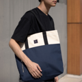 """ZINC - Two Tote Tone""  Category: Tote Bag Materials: Canvas Size: 6.5""W x 16.5""L x 14.5""H Color: Beige - Navy (สีเบจ - สีกรม)  Compartments: + Inner Pockets: 1 Normal Pocket, 1 Small Zip Pocket  Capacity: + Mobile Phone + Wallet + Small Umbrella + Books / Notebooks + Cosmetics + Stationary  HANDMADE IN BKK, THAILAND * Please note that due to lighting effect and computer color, the actual colors might be slightly different from the picture.*  #แคนวาส #กระเป๋า #กระเป๋าผ้า #กระเป๋าสะพาย #สีกรม #zinc #zincbag"