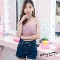 """Collection : 10 inch Colors : สีเข้ม Sizes : S M L XL  Size : S M L XL ⠀S : 24-25""""/32-33"""" ⠀M : 26-27""""/34-35"""" ⠀L : 28-29""""/36-37"""" XL : 30-31""""/38-39""""  #reviewforarteryjeans   #กางเกง #กางเกงผู้หญิง #กางเกงขาสั้น #กางเกงยีนส์ #กางเกงยีนส์ขาสั้น #กางเกงผู้หญิงขาสั้น #กางเกงขาสั้นผู้หญิง"""