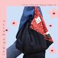 ชื่อสินค้า : Indigo Berry 3 pocket in bag & snap botton - Handmade with Love -  #กระเป๋า #กระเป๋าผ้า #กระเป๋าสะพาย #กระเป๋าถือ #กระเป๋าผู้หญิง