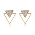 ต่างหูลายหินอ่อนขอบทอง เก๋ที่ใส่แล้วเห็นแป้นด้านหลัง หรืออยากใส่ด้านหน้าเดี่ยวๆกับสวยมินิมอลค่ะ