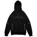 "TREZ WORLDWIDE LOGO BLACK BIKER HOODIE :  Black Russian Cotton Logo Biker Hoodie from Trez featuring a Round Neck, A Hood with Drawstring Tie Fastenings, Silver-Tone Hardware, An Embroidered Designer Logo Printed in Black to The Chest, Front Zipped Pockets, A Quilted Effect, Side Zip Details and A Ribbed Hem and Cuffs.  Size S : width 40""/length 28""  Size M : width 44""/length 29""  Size L : width 48""/length 30"" Color : Black ดำ  #เสื้อกันหนาว #เสื้อแขนยาว"