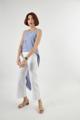 เสื้อเดี่ยว แบบสายไขว้หลัง ลายทาง  สี : ฟ้า blue ขนาด Freesize อก: ได้ถึง 46 นิ้ว ความยาวด้านหน้า: 15 นิ้ว ความยาวด้านหลัง: 48 นิ้ว  #เสื้อผ้าผู้หญิง #เสื้อผู้หญิง #เสื้อสายเดี่ยว #สายเดี่ยว