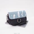 Size : W24 * H15 * D6 cm.  Shoulder strap : 130 cm.  Made of : PU&PVC Color : ฟ้า Blue Detail : 1 ช่องใหญ่ เปิด-ปิดด้วยซิป ฝากระเป๋า เปิด-ปิดด้วยแม่เหล็ก / 1 ช่องซิปด้านหลังกระเป๋า / 1 ช่องซิปเล็กด้านในกระเป๋า / อะไหล่สีเงิน  #กระเป๋า #กระเป๋าสะพาย #กระเป๋าผู้หญิง #กระเป๋าถือ