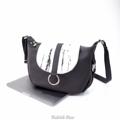 Size : W30 * H20 * D10 cm.  Shoulder strap : 120 cm.  Made of : PU&PVC Color : ขาว White Detail : 1 ช่องใหญ่ เปิด-ปิดด้วยซิป / 1 ช่องซิปเล็กด้านในกระเป๋า / ซับในสีดำ / อะไหล่สีเงิน