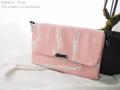 กระเป๋าขนาดกะทัดรัด ถือแบบกระเป๋าคลัทช์หรือสะพายก็ดูเท่ห์   Size : W27 * H18 cm. Shoulder strap : 135 cm.  Made of : PU&PVC Color : ชมพู Pink Detail : กระเป๋า 3 ช่อง เปิด-ปิดด้วยซิป 1 เส้น ฝากระเป๋า เปิด-ปิดด้วยแม่เหล็ก 2 ตัว / 1 ช่องซิปด้านหลังกระเป๋า / 1 ช่องซิปเล็กด้านในกระเป๋า / ซับในสีดำ / อะไหล่สีเงิน  #กระเป๋า #กระเป๋าสะพาย #กระเป๋าผู้หญิง #กระเป๋าถือ