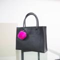 Size : W23 * H20 * D14 cm. Holder strap : 17 cm.  Made of : PU&PVC Color : ดำ Black Detail : 1 ช่องใหญ่ เปิด-ปิดด้วยซิป / 1 ช่องด้านหน้ากระเป๋าขนาดใส่กระดาษ A4 ได้ / มีแผ่นพลาสติกรองก้นกระเป๋า  ***ราคาไม่รวมพวงกุญแจปอมๆ  #กระเป๋า #กระเป๋าสะพาย #กระเป๋าผู้หญิง #กระเป๋าถือ