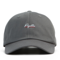"""This soft baseball cap features an embroidered underlined """"Pigalle"""" letter at front and an """"XIIAM"""" letter at wearer's back side. Interior includes printed taping and a moisture absorbing sweatband. The six panel construction features breathable eyelets with a curved visor and button at top. Open back has an adjustable strapback.   - Style: Curved visor strapback - Material: Made of 100% Cotton - Color: Light Grey - Size: 56.5~58.5 cm Adult free (Strap adjustable) - Feature: NONAME Pigalle ballcap. - Country of manufacture: Made in VIETNAM - Have a closure behind to increase/decrease size.  Notes: Due to the light and screen setting difference, the item's color may be slightly different from the pictures. Please allow slight dimension difference due to different manual measurement."""