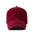 """""""This washing baseball cap features a basic plain cap, a stitched flipper at wearer's back side. Interior includes printed taping and a moisture absorbing sweatband. The six panel construction features breathable eyelets with a curved visor and button at top. Open back has an adjustable strapback.   - Style: Curved visor baseball cap - Material: Made of 100% 14""""""""Twill - Color: Wine - Size: 56.5~58.5 cm Adult free (Strap adjustable) - Feature: Flipper Washing blank ballcap - Country of manufacture: Made in VIETNAM - Have a closure behind to increase/decrease size. Wine  Notes: Due to the light and screen setting difference, the item's color may be slightly different from the pictures. Please allow slight dimension difference due to different manual measurement."""""""