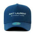 """This D Frame cap with snap behind features an embroidered AIN'T LAURENT letter, a stitched flipper at wearer's back side. Interior includes printed taping and a moisture absorbing sweatband. The fine panel construction features breathable eyelets with a curved visor and button at top. Open back has an adjustable snapback.   - Style: Curved visor baseball cap - Material: Made of 100% 14""""Twill - Color: Wine - Size: 56.5~58.5 cm Adult free (Strap adjustable) - Feature: Flipper Laurent baseball cap, D TYPE - Country of manufacture: Made in VIETNAM - Have a closure behind to increase/decrease size.  Notes: Due to the light and screen setting difference, the item's color may be slightly different from the pictures. Please allow slight dimension difference due to different manual measurement."""