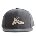 """This Snapback cap features an embroidered FINGER at front, a stitched flipper at wearer's back side. Interior includes printed taping and a moisture absorbing sweatband. The six panel construction features breathable eyelets with a flatted  visor and button at top. Open back has an adjustable snapback.   - Style: Flat visor snapback cap - Material: Made of Acrylic wool - Color: Dark Grey - Size: 56.5~58.5 cm Adult free (Snap adjustable) - Feature: Flipper embroidered FINGER snapback - Country of manufacture: Made in VIETNAM - Have a closure behind to increase/decrease size.  Notes: Due to the light and screen setting difference, the item's color may be slightly different from the pictures. Please allow slight dimension difference due to different manual measurement."""
