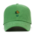 """This Strapback cap features a cute green embroidered veggie chips at front, a stitched flipper at wearer's back side. Interior includes printed taping and a moisture absorbing sweatband. The six panel construction features breathable eyelets with a curved visor and button at top. Open back has an adjustable strapback.   - Style: Curved visor strapback ballcap - Material: Made of 100% Cotton - Color: Green - Size: 56.5~58.5 cm Adult free (Strap adjustable) - Feature: Flipper coloful ballcap - Country of manufacture: Made in VIETNAM - Have a closure behind to increase/decrease size.  Notes: Due to the light and screen setting difference, the item's color may be slightly different from the pictures. Please allow slight dimension difference due to different manual measurement."""