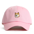"""This Baseball cap features an embroidered HACHIKO at front and an """"Hachi-ko"""" letter at wearer's back side. Interior includes printed taping and a moisture absorbing sweatband. The six panel construction features breathable eyelets with a curved visor and button at top. Open back has an adjustable strapback.   - Style: Curved visor strapback - Material: Made of 100% Cotton - Color: Pink - Size: 56.5~58.5 cm Adult free (Strap adjustable) - Feature: NONAME Hachiko ballcap. - Country of manufacture: Made in VIETNAM - Have a closure behind to increase/decrease size.  Notes: Due to the light and screen setting difference, the item's color may be slightly different from the pictures. Please allow slight dimension difference due to different manual measurement."""