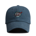 """""""This Baseball cap features an embroidered NASA logo at front, a stitched flipper at wearer's back side. Interior includes printed taping and a moisture absorbing sweatband. The six panel construction features breathable eyelets with a curved visor and button at top. Open back has an adjustable strapback.   - Style: Curved visor baseball cap - Material: Made of 100% Cotton - Color: Navy - Size: 56.5~58.5 cm Adult free (Strap adjustable) - Feature: Flipper embroidered NASA logo ballcap - Country of manufacture: Made in VIETNAM - Have a closure behind to increase/decrease size.  Notes: Due to the light and screen setting difference, the item's color may be slightly different from the pictures. Please allow slight dimension difference due to different manual measurement."""""""