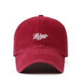 """""""This washing baseball cap features a 2D embroidered FLIPPER at front, a stitched flipper at wearer's back side. Interior includes printed taping and a moisture absorbing sweatband. The six panel construction features breathable eyelets with a curved visor and button at top. Open back has an adjustable strapback.   - Style: Curved visor baseball cap - Material: Made of 100% 14""""""""Twill - Color: Wine - Size: 56.5~58.5 cm Adult free (Strap adjustable) - Feature: Flipper washing flipper ballcap - Country of manufacture: Made in VIETNAM - Have a closure behind to increase/decrease size. Wine  Notes: Due to the light and screen setting difference, the item's color may be slightly different from the pictures. Please allow slight dimension difference due to different manual measurement."""""""