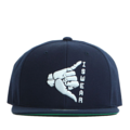 """This Snapback cap features a rubber ISWEAR symbol piece at front, a stitched flipper at wearer's back side. Interior includes printed taping and a moisture absorbing sweatband. The six panel construction features breathable eyelets with a flatted  visor and button at top. Open back has an adjustable snapback.   - Style: Flat visor snapback cap - Material: Made of Acrylic wool - Color: Navy - Size: 56.5~58.5 cm Adult free (Snap adjustable) - Feature: Flipper rubber ISWEAR snapback - Country of manufacture: Made in VIETNAM - Have a closure behind to increase/decrease size.  Notes: Due to the light and screen setting difference, the item's color may be slightly different from the pictures. Please allow slight dimension difference due to different manual measurement."""