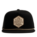 """""""This Snapback with plastic snap and mesh panels behind features an embroidered """"""""The Silver Brown Dance co"""""""" patch at front and 3D rubber """"""""CHRISTOPHER"""""""" at wearer's back side. Interior includes printed taping and a moisture absorbing sweatband. The fine panel construction features breathable eyelets with a flat visor; twisted rope between crown and visor; and button at top. Open back has an adjustable snapback.   - Style: Flatted visor mesh-snapback - Material: Made of 50% COTTON 50% POLYESTER - Color: Black - Size: 56.5~58.5 cm Adult free (Snap adjustable) - Feature: NONAME Brown Hexagon snapback - Country of manufacture: Made in VIETNAM - Have a closure behind to increase/decrease size.  Notes: Due to the light and screen setting difference, the item's color may be slightly different from the pictures. Please allow slight dimension difference due to different manual measurement."""""""