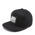 """This Snapback cap features with a PREMIER metal plate at front. Interior includes printed taping and a moisture absorbing sweatband. The five panel construction features and covered whole crown by mesh fabric, a flatted visor and button at top. Open back has an adjustable snapback.   - Style: Flatted visor snapback - Material: Made of  50% Cotton, 50% Polyester - Color: Black