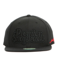 """This Snapback cap features an 3D embroidered PREMIER typo at front, a """"LIMITED EDITION"""" logo embroidered on left side, and a stitched PREMIER at wearer's back side. Interior includes printed taping and a moisture absorbing sweatband. The six panel construction features breathable eyelets with a flatted visor and button at top. Open back has an adjustable snapback.   - Style: Flatted visor snapback cap - Material: Made of 80% Acrylic, 20% Wool, Woven - Color: Black - Size: 56.5~58.5 cm Adult free (Snap adjustable) - Feature: PREMIER LIMITED EDITION snapback. - Country of manufacture: Made in VIETNAM - Have a closure behind to increase/decrease size.  Notes: Due to the light and screen setting difference, the item's color may be slightly different from the pictures. Please allow slight dimension difference due to different manual measurement."""