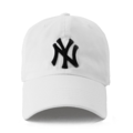 """""""This washing baseball cap features a 3D embroidered NY at front and old-metal closure. Interior includes printed taping and a moisture absorbing sweatband. The six panel construction features breathable eyelets with a curved visor and button at top. Open back has an adjustable strapback.   - Style: Curved visor baseball cap - Material: Made of 100% Cotton - Color: White - Size: 56.5~58.5 cm Adult free (Strap adjustable) - Feature: NONAME Washing NY ballcap - Country of manufacture: Made in VIETNAM - Have a closure behind to increase/decrease size.  Notes: Due to the light and screen setting difference, the item's color may be slightly different from the pictures. Please allow slight dimension difference due to different manual measurement."""""""