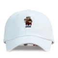 """This Baseball cap features an embroidered Badbear at front and a stitched PREMIER at wearer's back side. Interior includes printed taping and a moisture absorbing sweatband. The six panel construction features breathable eyelets with a curved visor and button at top. Open back has an adjustable strapback.   - Style: Curved visor baseball cap - Material: Made of 100% Cotton - Color: White - Size: 56.5~58.5 cm Adult free (Strap adjustable) - Feature: PREMIER Badbear ballcap. - Country of manufacture: Made in VIETNAM - Have a closure behind to increase/decrease size.  Notes: Due to the light and screen setting difference, the item's color may be slightly different from the pictures. Please allow slight dimension difference due to different manual measurement."""