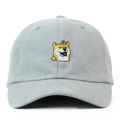 """This Strapback cap features an cute embroidered FLOWER HACHIKO at front, a stitched flipper at wearer's back side. Interior includes printed taping and a moisture absorbing sweatband. The six panel construction features breathable eyelets with a curved visor and button at top. Open back has an adjustable strapback.   - Style: Curved visor strapback ballcap - Material: Made of 100% Cotton - Color: Light Grey - Size: 56.5~58.5 cm Adult free (Strap adjustable) - Feature: Flipper FLOWER HACHIKO ballcap - Country of manufacture: Made in VIETNAM - Have a closure behind to increase/decrease size.  Notes: Due to the light and screen setting difference, the item's color may be slightly different from the pictures. Please allow slight dimension difference due to different manual measurement."""