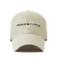 """""""This washing baseball cap features a 2D embroidered PREMIER&FLIPPER letter at front, a stitched flipper at wearer's back side. Interior includes printed taping and a moisture absorbing sweatband. The six panel construction features breathable eyelets with a curved visor and button at top. Open back has an adjustable strapback.   - Style: Curved visor baseball cap - Material: Made of 100% 14""""""""Twill - Color: Beige - Size: 56.5~58.5 cm Adult free (Strap adjustable) - Feature: Flipper Washing PREMIER&FLIPPER ballcap - Country of manufacture: Made in VIETNAM - Have a closure behind to increase/decrease size. Beige  Notes: Due to the light and screen setting difference, the item's color may be slightly different from the pictures. Please allow slight dimension difference due to different manual measurement."""""""