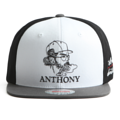 """This Snapback cap features a Dopeguys embroidered at front. Interior includes printed taping and a moisture absorbing sweatband. The six panel construction features breathable eyelets with a flatted visor and button at top. Open back has an adjustable snapback.  - Style: Flatted visor snapback - Material: Made of  80% Acrylic, 20% Wool, Woven - Color: White