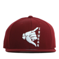 """This Snapback cap features a rubber ISWEAR symbol piece at front, a stitched flipper at wearer's back side. Interior includes printed taping and a moisture absorbing sweatband. The six panel construction features breathable eyelets with a flatted  visor and button at top. Open back has an adjustable snapback.   - Style: Flat visor snapback cap - Material: Made of Acrylic wool - Color: Wine - Size: 56.5~58.5 cm Adult free (Snap adjustable) - Feature: Flipper rubber ISWEAR snapback - Country of manufacture: Made in VIETNAM - Have a closure behind to increase/decrease size.  Notes: Due to the light and screen setting difference, the item's color may be slightly different from the pictures. Please allow slight dimension difference due to different manual measurement."""
