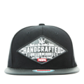 """This Snapback cap features with an rhombus leather embroidery patch at front. Interior includes printed taping and a moisture absorbing sweatband. The six panel construction features breathable eyelets with a PU flatted visor and button at top. Open back has an adjustable snapback.   - Style: Flatted visor snapback - Material: Made of  80% Acrylic, 20% Wool, Woven - Color: Black - Size: 56.5~58.5 cm Adult free (Snap adjustable) - Feature: PREMIER Rhombus Leather Patch snapback. - Country of manufacture: Made in VIETNAM - Have a closure behind to increase/decrease size.  Notes: Due to the light and screen setting difference, the item's color may be slightly different from the pictures. Please allow slight dimension difference due to different manual measurement."""