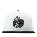 """This Snapback cap features a rubber fingerprint printed in all panel and 2D embroidered at front, a stitched flipper at wearer's back side. Interior includes printed taping and a moisture absorbing sweatband. The six panel construction features breathable eyelets with a flatted  visor and button at top. Open back has an adjustable snapback.   - Style: Flat visor snapback cap - Material: Made of Acrylic wool - Color: White.Black - Size: 56.5~58.5 cm Adult free (Snap adjustable) - Feature: Flipper rubber fingerprint printed in all panel snapback - Country of manufacture: Made in VIETNAM - Have a closure behind to increase/decrease size.  Notes: Due to the light and screen setting difference, the item's color may be slightly different from the pictures. Please allow slight dimension difference due to different manual measurement."""