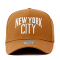 """This D Frame cap with snap behind features an embroidered NEWYORK CITY letter, a stitched flipper at wearer's back side. Interior includes printed taping and a moisture absorbing sweatband. The fine panel construction features breathable eyelets with a curved visor and button at top. Open back has an adjustable snapback.   - Style: Curved visor baseball cap - Material: Made of 100% 14""""Twill - Color: Brown - Size: 56.5~58.5 cm Adult free (Strap adjustable) - Feature: Flipper Newyork City baseball cap, D TYPE - Country of manufacture: Made in VIETNAM - Have a closure behind to increase/decrease size.  Notes: Due to the light and screen setting difference, the item's color may be slightly different from the pictures. Please allow slight dimension difference due to different manual measurement."""
