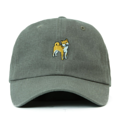 """This Strapback cap features an cute embroidered standing HACHIKO at front, a stitched flipper at wearer's back side. Interior includes printed taping and a moisture absorbing sweatband. The six panel construction features breathable eyelets with a curved visor and button at top. Open back has an adjustable strapback.   - Style: Curved visor strapback ballcap - Material: Made of 100% Cotton - Color: Light Grey - Size: 56.5~58.5 cm Adult free (Strap adjustable) - Feature: Flipper SHIBA INU ballcap - Country of manufacture: Made in VIETNAM - Have a closure behind to increase/decrease size.  Notes: Due to the light and screen setting difference, the item's color may be slightly different from the pictures. Please allow slight dimension difference due to different manual measurement."""