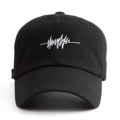 """""""This Baseball cap features an embroidered THUGLIFE electrocardiogram designed, a stitched flipper at wearer's back side. Interior includes printed taping and a moisture absorbing sweatband. The six panel construction features breathable eyelets with a curved visor and button at top. Open back has an adjustable strapback.   - Style: Curved visor baseball cap - Material: Made of 100% Cotton - Color: Black - Size: 56.5~58.5 cm Adult free (Strap adjustable) - Feature: Flipper embroidered THUGLIFE electrocardiogram designed ballcap. - Country of manufacture: Made in VIETNAM - Have a closure behind to increase/decrease size.  Notes: Due to the light and screen setting difference, the item's color may be slightly different from the pictures. Please allow slight dimension difference due to different manual measurement."""""""