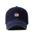 """""""This washing baseball cap features a tiny 2D embroidered USA patch at front, a stitched flipper at wearer's back side. Interior includes printed taping and a moisture absorbing sweatband. The six panel construction features breathable eyelets with a curved visor and button at top. Open back has an adjustable strapback.   - Style: Curved visor baseball cap - Material: Made of 100% 14""""""""Twill - Color: Navy - Size: 56.5~58.5 cm Adult free (Strap adjustable) - Feature: Flipper Washing USA ballcap - Country of manufacture: Made in VIETNAM - Have a closure behind to increase/decrease size. Navy  Notes: Due to the light and screen setting difference, the item's color may be slightly different from the pictures. Please allow slight dimension difference due to different manual measurement."""""""