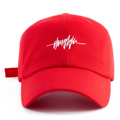 """""""This Baseball cap features an embroidered THUGLIFE electrocardiogram designed, a stitched flipper at wearer's back side. Interior includes printed taping and a moisture absorbing sweatband. The six panel construction features breathable eyelets with a curved visor and button at top. Open back has an adjustable strapback.   - Style: Curved visor baseball cap - Material: Made of 100% Cotton - Color: Red - Size: 56.5~58.5 cm Adult free (Strap adjustable) - Feature: Flipper embroidered THUGLIFE electrocardiogram designed ballcap. - Country of manufacture: Made in VIETNAM - Have a closure behind to increase/decrease size.  Notes: Due to the light and screen setting difference, the item's color may be slightly different from the pictures. Please allow slight dimension difference due to different manual measurement."""""""